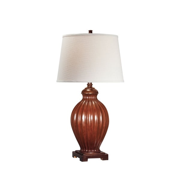 Lite Source Colletta Fluorescent Table Lamp, Brown, Dark Bronze