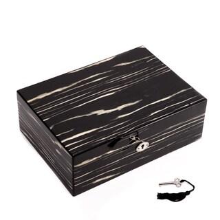 Bey Berk Lena Ebony Lacquered Wood Jewelry Box