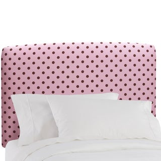 Full Upholstered Headboard in Polkadot Pink/brown