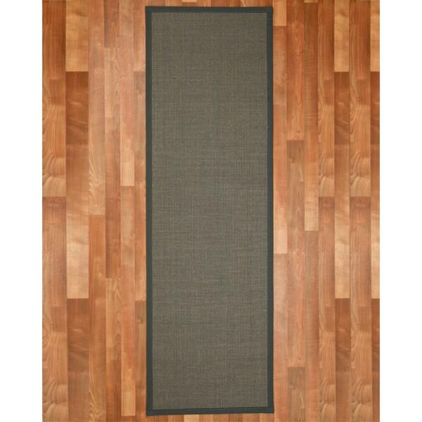 Handcrafted Big Sur Onyx Sisal Rug (2'6 x 8')