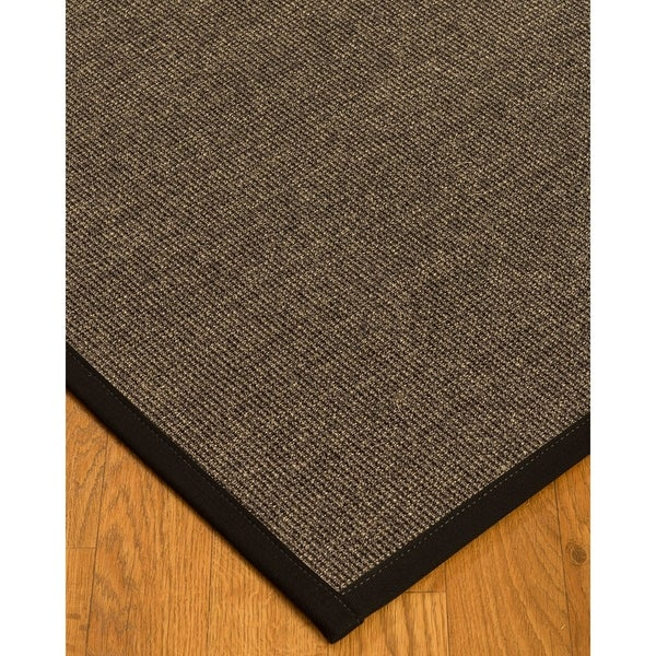 Handcrafted Shadows Sisal 8' x 10' Rug - Black - 8' x 10'