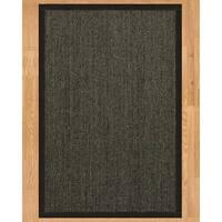 Handcrafted Shadows Sisal 6' x 9' Rug - Black - 6' x 9'