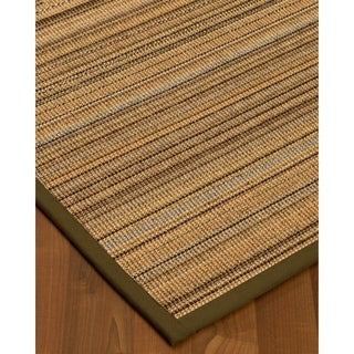 Handcrafted Boardwalk Sisal 5' x 8' Rug - Black with Bonus Rug Pad - 5' x 8'