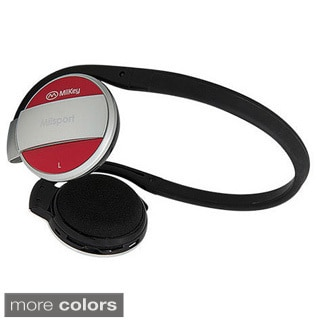 MiiKey MiiSport Bluetooth 4.0 Behind-the-Head Sweat-proof Headphones with Microphone