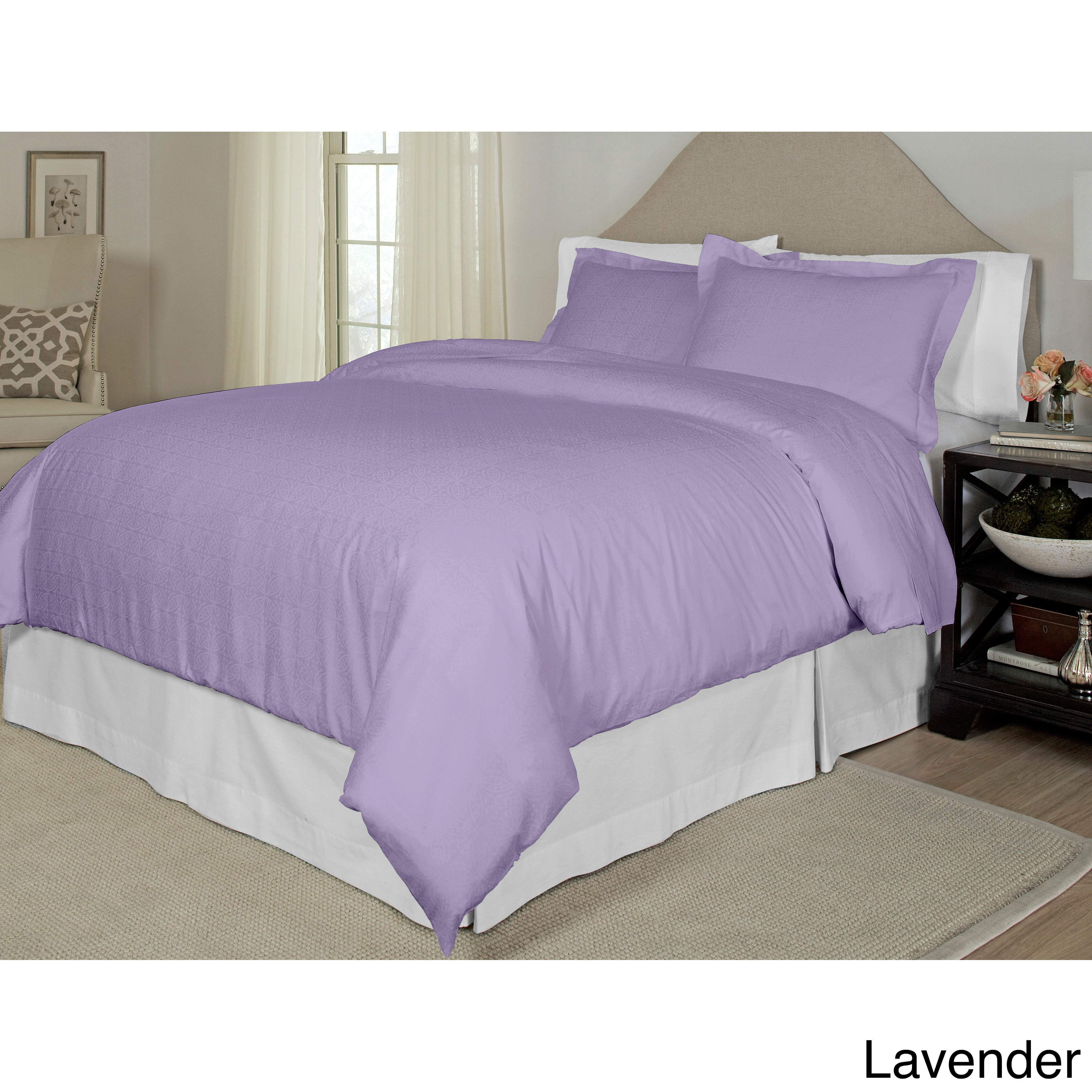 Pointhaven Tone-on-Tone Printed 3-piece Duvet Set (Full /...