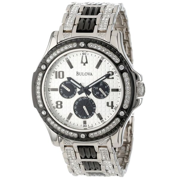 bulova men s 98c005 chronograph crystal stainless steel watch bulova men s 98c005 chronograph crystal stainless steel watch