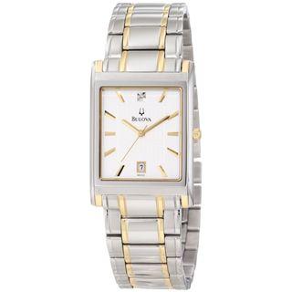 Bulova Men's 98D005 Diamond Stainless Steel Watch