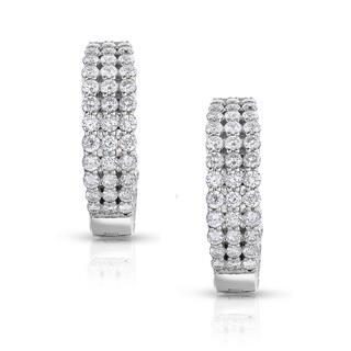 Eloquence 14k White Gold 3ct TDW Diamond Triple-Row Hoop Earrings https://ak1.ostkcdn.com/images/products/10314324/P17426296.jpg?impolicy=medium