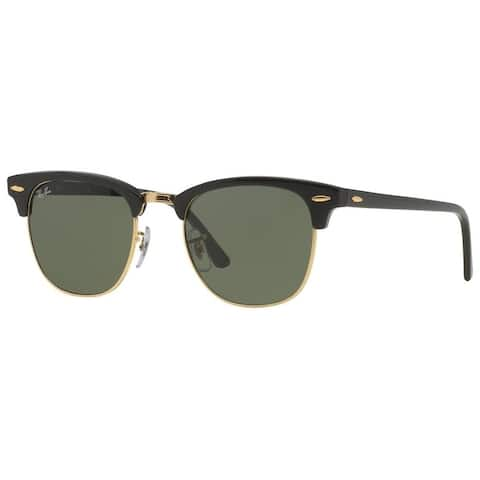 Ray-Ban RB3016 Clubmaster Black Frame Green Classic 51mm Lens Sunglasses