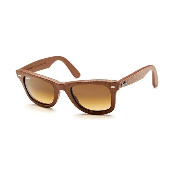 Copper Sunglasses  ray ban original rb2140qm leather bronze copper wayfarer