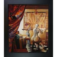 Adrian Borda 'Allegory of Painting' Framed Fine Art Print