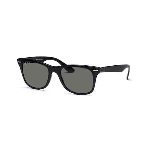8da241579 Ray-Ban Wayfarer Liteforce Tech RB4195 Black Frame Green Polarized Lens  Sunglasses