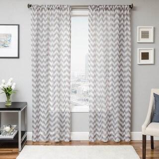 Zanzibar Rod Pocket 96 Inch Diamond Pattern Curtain Panel