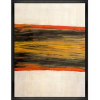 Lisa Carney 'Digigeo 2' Hand Painted Framed Canvas Art