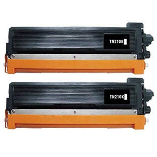 2 Pack Replacing Brother TN-210 210BK Black Toner Cartridge