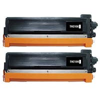 2 Pack Replacing Brother TN-210 210BK Black Toner Cartridge