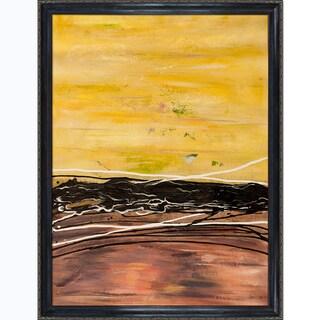 Lisa Carney 'AVR0712' Hand Painted Framed Canvas Art
