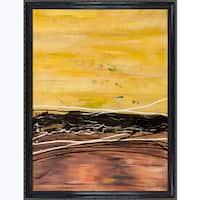 Lisa Carney 'AVR0712' Hand Painted Framed Canvas Art