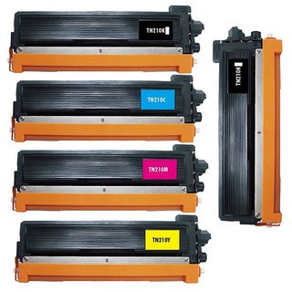 5 Pack Replacing Brother TN-210 210C 210M 210Y 210BK Toner Cartridge