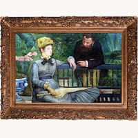 Edouard Manet 'In the Conservatory' Hand Painted Framed Canvas Art