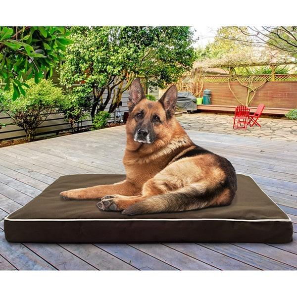 Furhaven water resistant deluxe indoor outdoor orthopedic for Dog resistant bedding