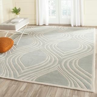 Safavieh Handmade Chatham Grey/ Ivory Wool Rug (5' x 8')