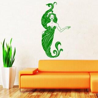Mermaid Green Vinyl Sticker Wall Art