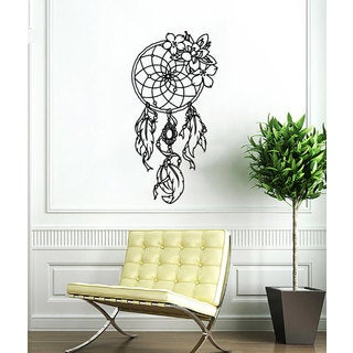 Dreamcatcher Black Vinyl Sticker Wall Art
