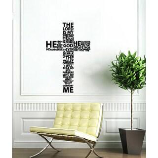 Cross Jesus Christ Black Vinyl Sticker Wall Art