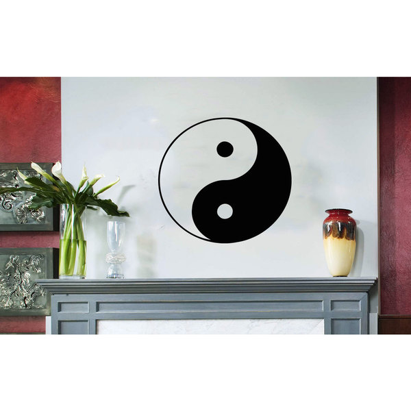Shop Yin Yang Original Black Vinyl Sticker Wall Art - Free Shipping ...