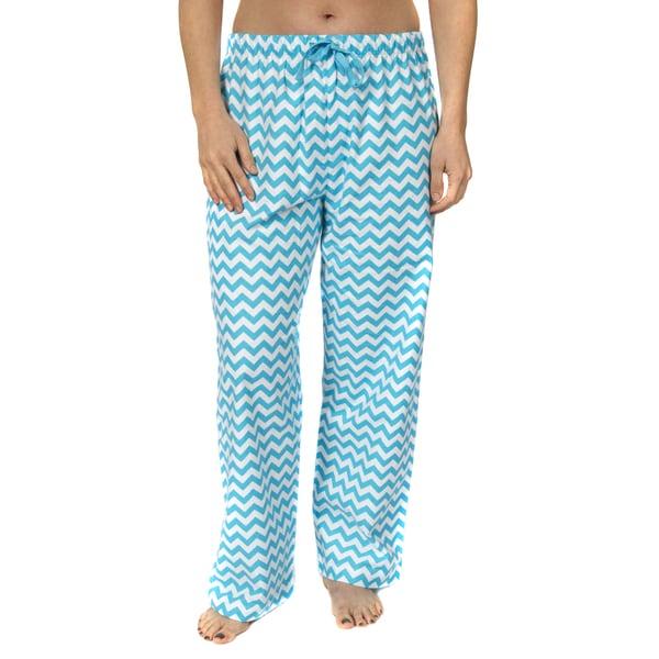 Leisureland Women's Cotton Flannel Pajama Pants Chevron Print. Opens flyout.