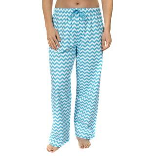 Leisureland Women's Cotton Flannel Pajama Pants Chevron Print