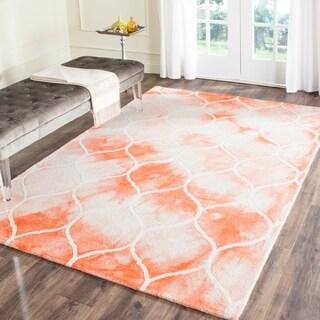 Safavieh Handmade Dip Dye Watercolor Vintage Orange/ Ivory Wool Rug (5' x 8')