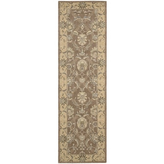 Nourison Persian Empire Mocha Runner Rug (2' x 7')