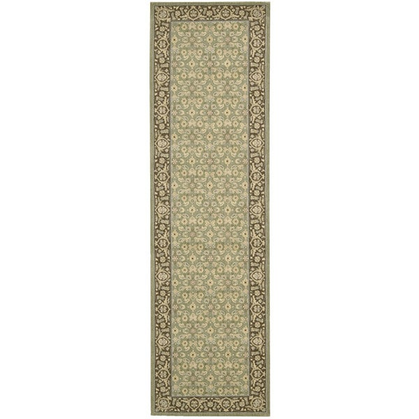"Nourison Persian Empire Green Runner Rug (2'3 x 8') - 2'3""x 8'"
