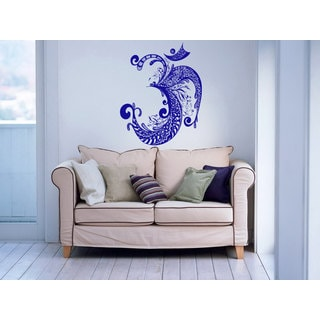OM Symbol Yoga Buddha Black Vinyl Sticker Wall Art