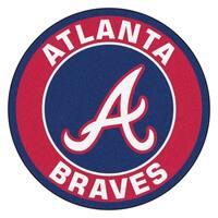 Fanmats MLB Atlanta Braves Blue Nylon Roundel Mat (2'3 x 2'3)