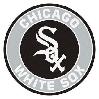 Fanmats MLB Chicago White Sox Grey and Black Nylon Roundel Mat (2'3 x 2'3)