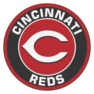 Fanmats MLB Cincinnati Reds Red and Black Nylon Roundel Mat (2'3 x 2'3)
