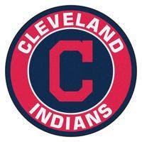 Fanmats MLB Cleveland Indians Red Nylon Roundel Mat (2'3 x 2'3)