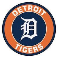 Fanmats MLB Detroit Tigers Orange Nylon Roundel Mat (2'3 x 2'3)