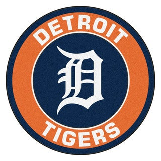 Fanmats MLB Detroit Tigers Orange Nylon Roundel Mat (2'3 x 2'3)