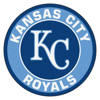 Fanmats MLB Kansas City Royals Blue Nylon Roundel Mat (2'3 x 2'3)
