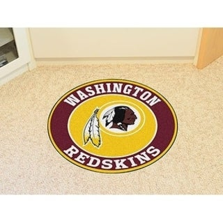 Fanmats NFL Washington Redskins Goldand Red Nylon Roundel Mat (2'3 x 2'3)