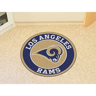 Fanmats NFL Los Angeles Rams Gold and Navy Nylon Roundel Mat (2'3 x 2'3)