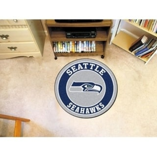 Fanmats NFL Seattle Seahawks Grey and Navy Nylon Roundel Mat (2'3 x 2'3)