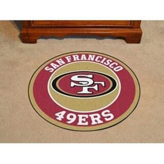 "NFL - San Francisco 49ers Roundel Mat 27"" diameter"
