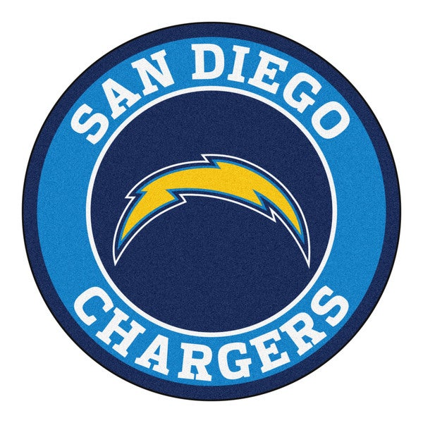 Fanmats Nfl San Diego Chargers Blue Nylon Roundel Mat 2 3