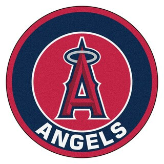 Fanmats MLB Los Angeles Angels Red Nylon Roundel Mat (2'3 x 2'3)