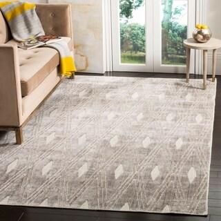 Safavieh Handmade Mirage Modern Silver Wool/ Viscose Area Rug (6' x 9')